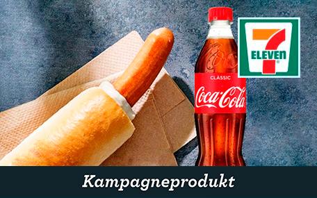 Fransk Hotdog  og 50 cl. Sodavand hos 7-eleven