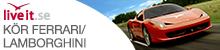 Kör Ferrari-Lamborghini Presentkort