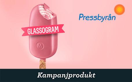 Glassogram på Pressbyrån