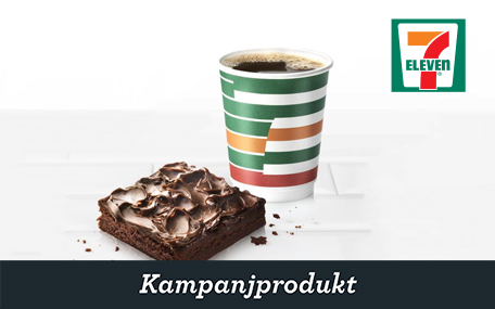 Kaffe & Brownie på 7-Eleven