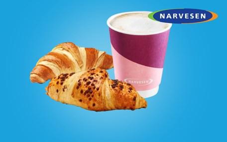 Kaffe & Croissant hos Narvesen Gavekort