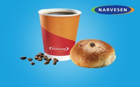 Kaffe & Bolle hos Narvesen Gavekort