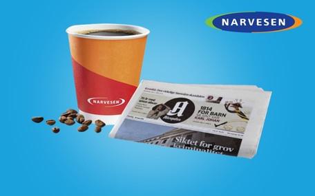 Kaffe & Avis hos Narvesen Gavekort